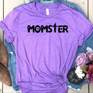 MOMster graphic tee funny Mom t-shirt top New!